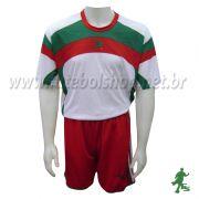 Jogo de Camisa Uniforme Placar - Bco/Vermelho/Verde - 8 Conjuntos