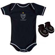 Kit Body + Pantufa para Bebê do Atlético Mineiro 033a