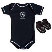Kit Body + Pantufa para Bebê do Botafogo