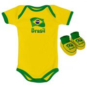 Kit Body + Pantufa para Bebê do Brasil