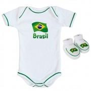 Kit Body + Pantufa para Bebê do Brasil CBF Torcida Baby - 033