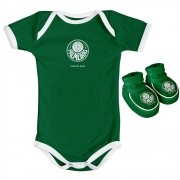 Kit Body + Pantufa para Bebê do Palmeiras 033A