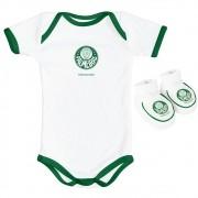 Kit Body + Pantufa para Bebê do Palmeiras Torcida Baby - 033