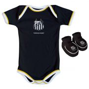 Kit Body + Pantufa para Bebê do Santos
