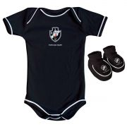 Kit Body + Pantufa para Bebê do Vasco da Gama