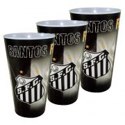 Kit c/3 Copos Plásticos do Santos 550 ml