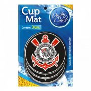 Kit c/3 Suporte p/ Copo Corinthians - Cup Mat
