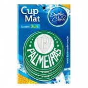 Kit c/3 Suporte p/ Copo Palmeiras - Cup Mat