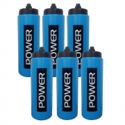 Kit c/6 Garrafas Água Squeeze 800 ml Bico Automático Power