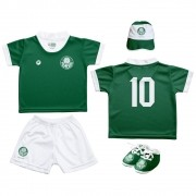 Kit Uniforme Bebê do Palmeiras Torcida Baby - 015s