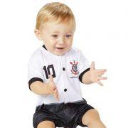 Macacão Curto Bebê Torcida Baby Corinthians Estilo I - 005s