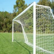 Rede de Futebol de Campo Oficial Fio Seda 4 mm - 7,50 x 2,50 Metros