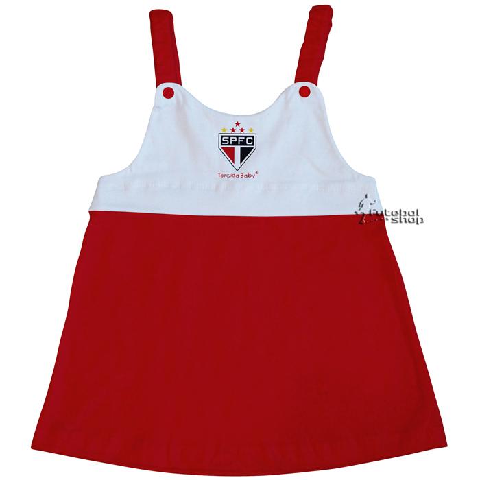 Vestido Torcida Baby Infantil com Alça do São Paulo - 203A