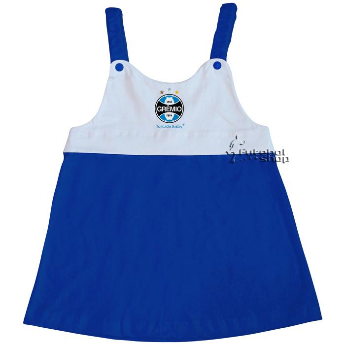 Vestido Torcida Baby Infantil com Alça  do Grêmio - 203A