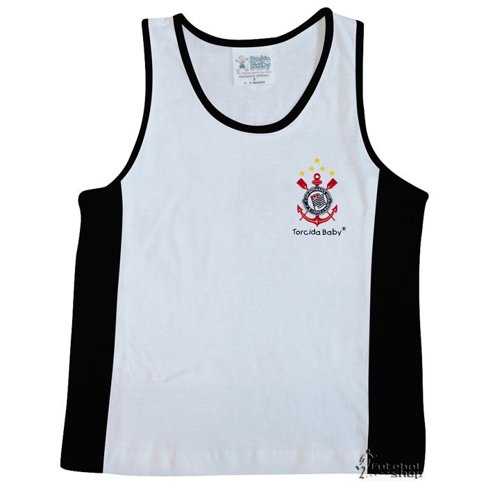 Camiseta Regata Malha Infantil do Corinthians - 210