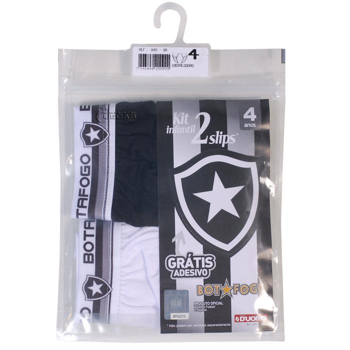 Kit C/ 2 Cuecas Slip Infantil Botafogo Duomo - 849