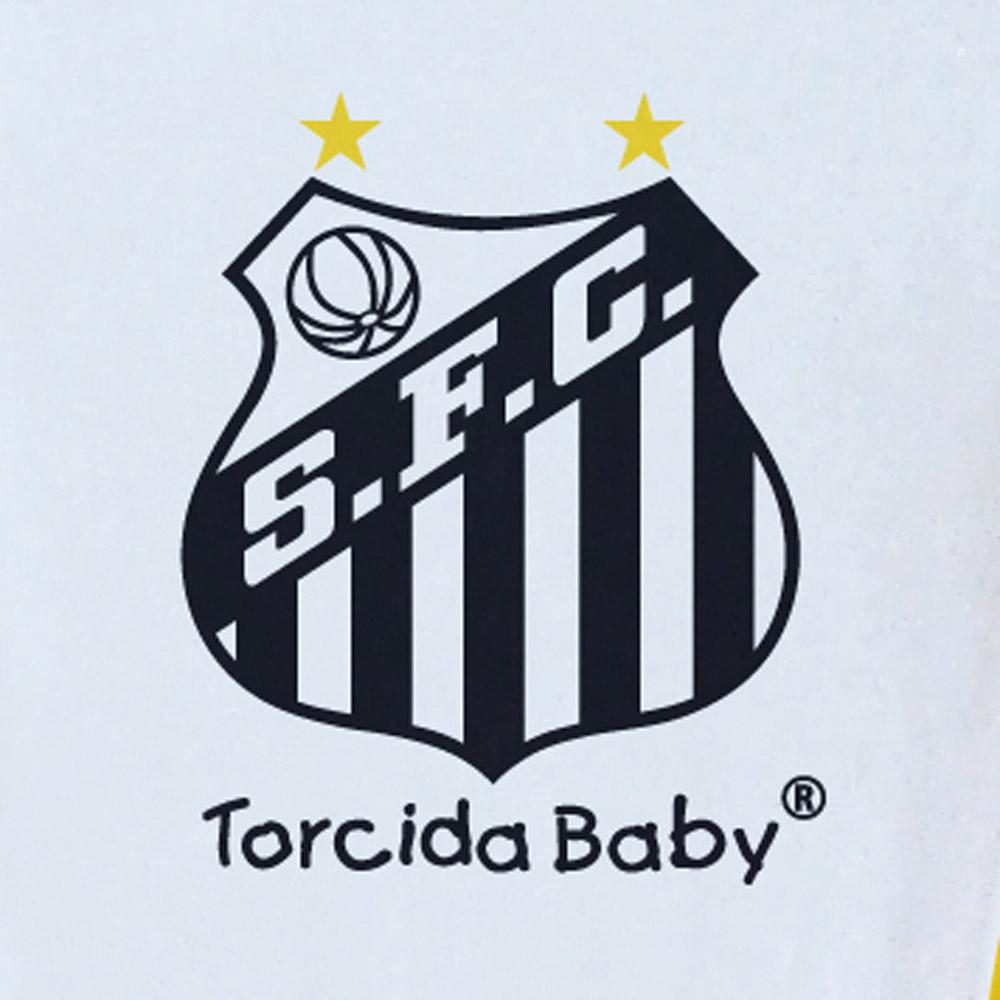 Macacão Curto Bebê Torcida Baby Santos - 005A