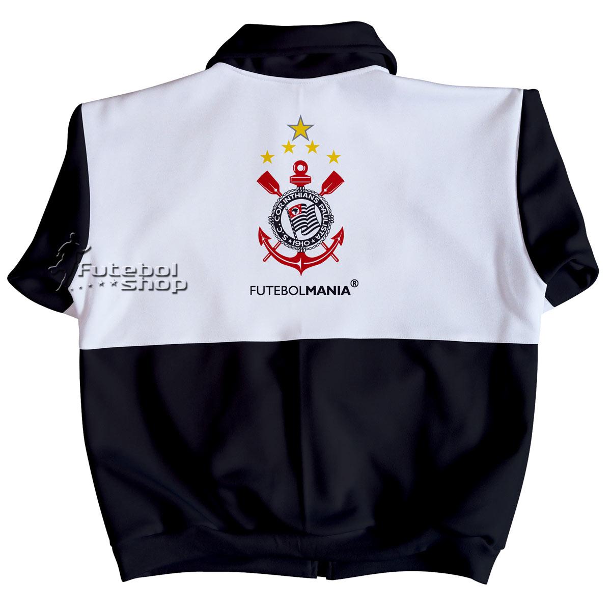 ... Jaqueta Juvenil do Corinthians de Malha Esportiva - 224A - FUTEBOL SHOP b44a8852a766d