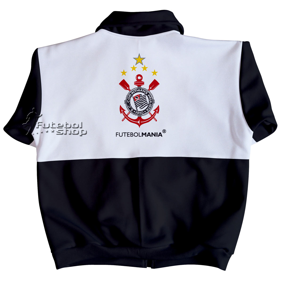 Jaqueta Teen do Corinthians de Malha Esportiva - 224B