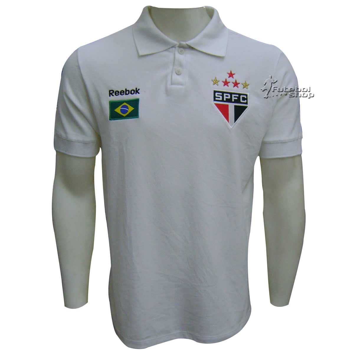 01215f770c Camisa Polo Brasil São Paulo F.C. - SP09060V - FUTEBOL SHOP ...