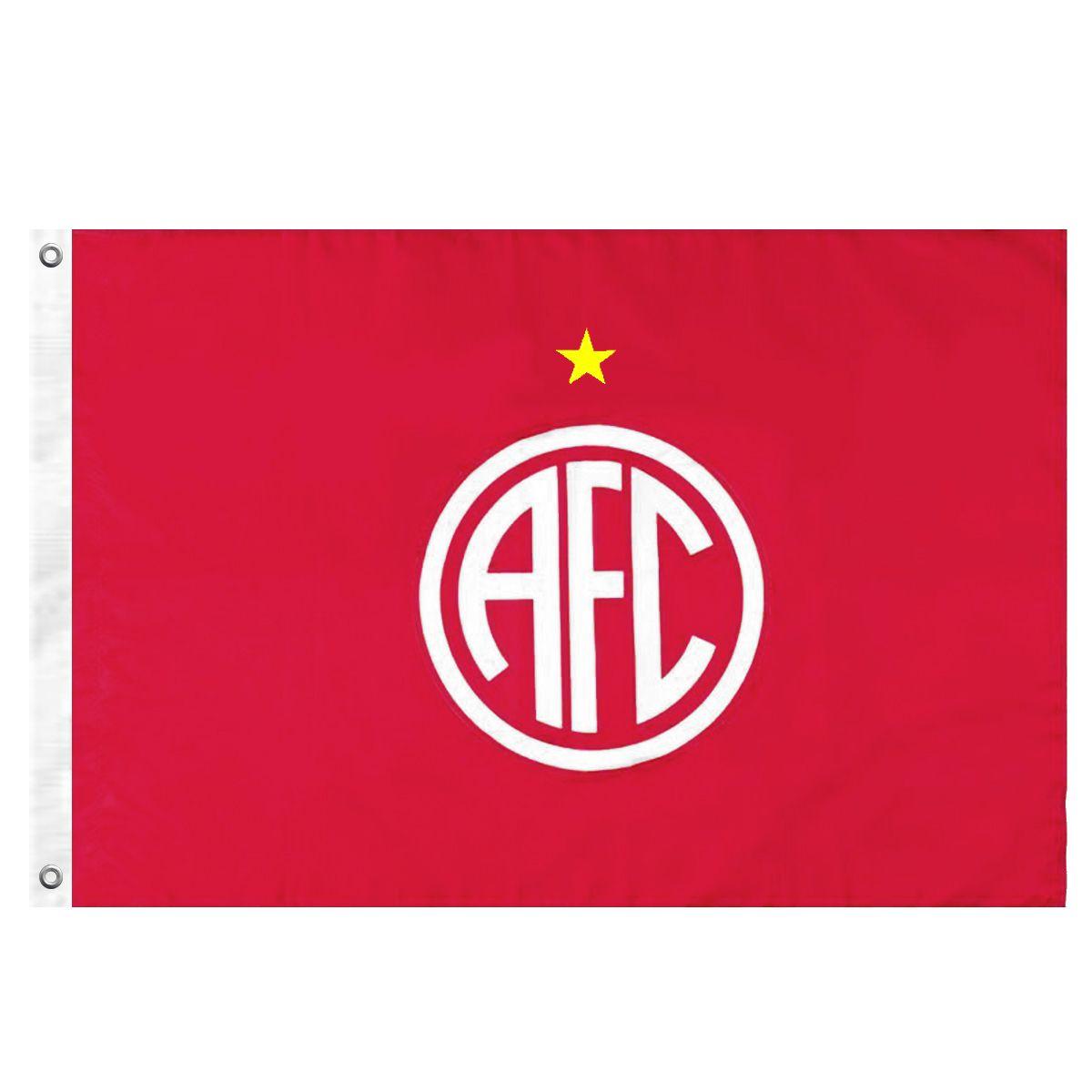Bandeira Oficial do América RJ 96 x 68 cm - 1 1/2 pano