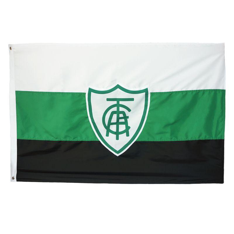Bandeira Oficial do América Mineiro 128 x 90 cm -  2 Panos