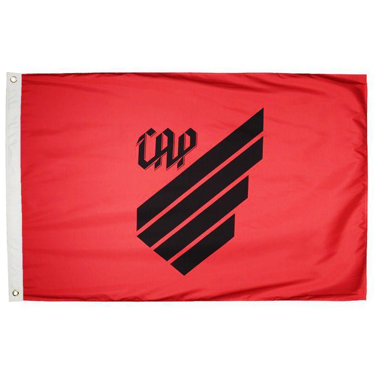 Bandeira Oficial do Athletico Paranaense Vermelha 128 x 90 cm -  2 Panos