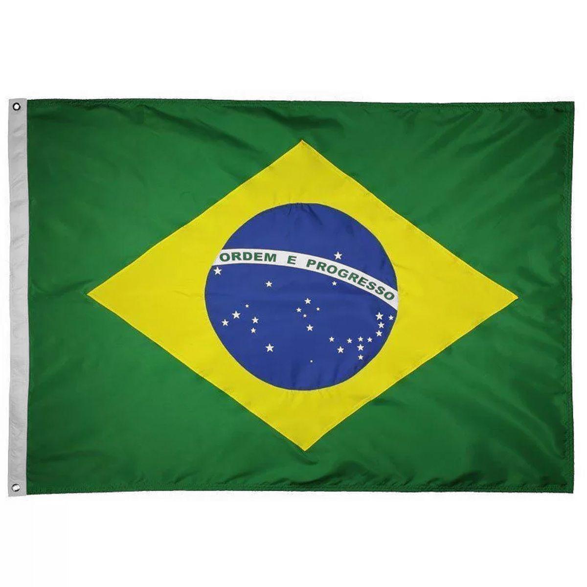 Bandeira Oficial do Brasil 256 x 180 cm - 4 panos