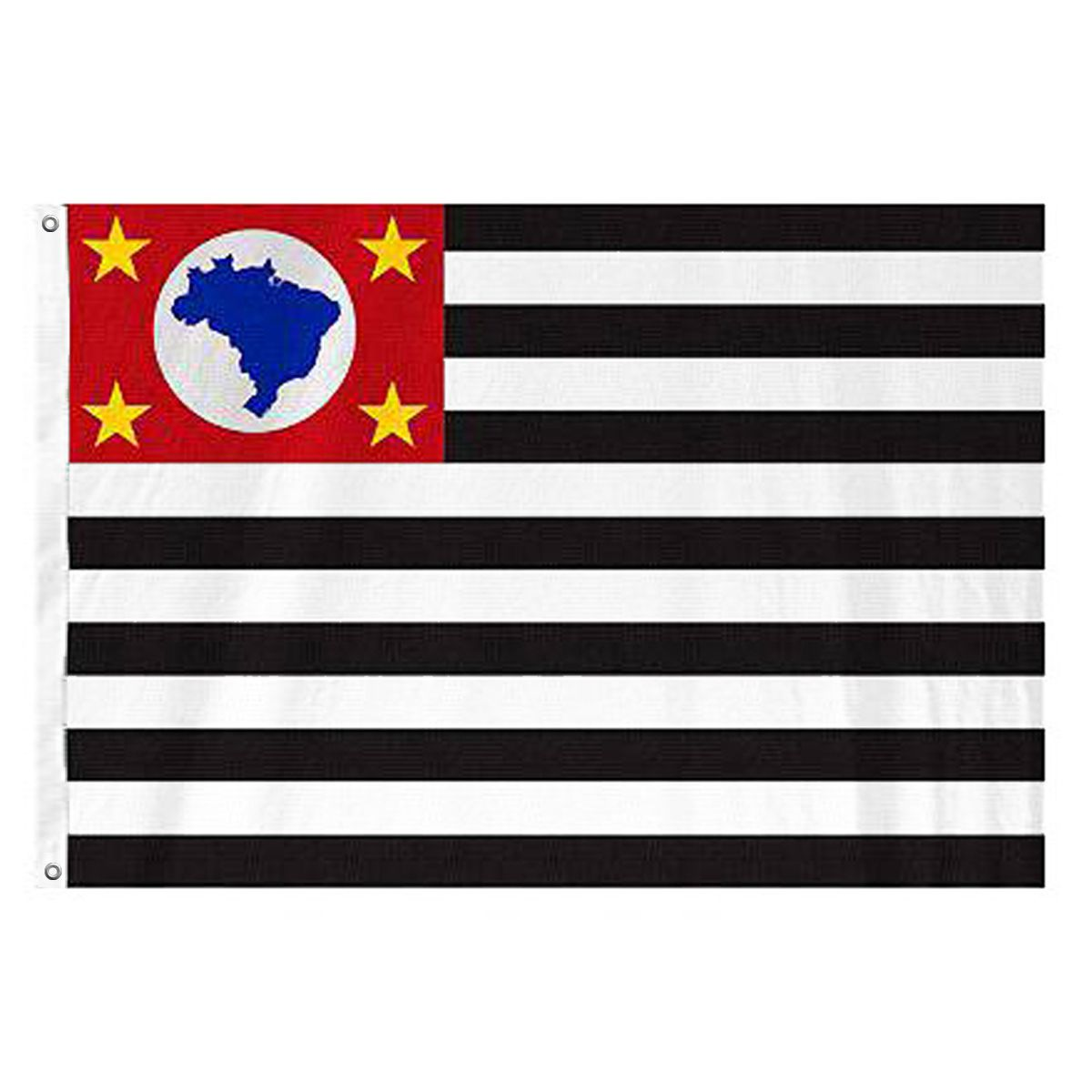 Bandeira Oficial  do Estado de São Paulo 192 x 135 cm - 3 panos