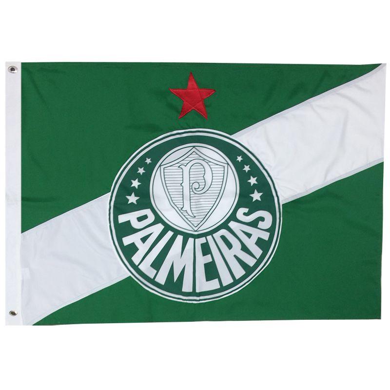 6fac5a00a1db5 Bandeira Oficial do Palmeiras 161 x 113 Centímetros - FUTEBOL SHOP