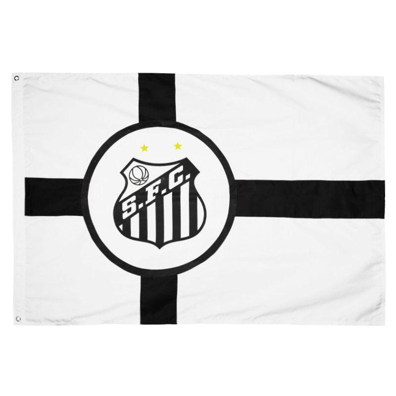 Bandeira Oficial do Santos 128 x 90 cm - 2 Panos