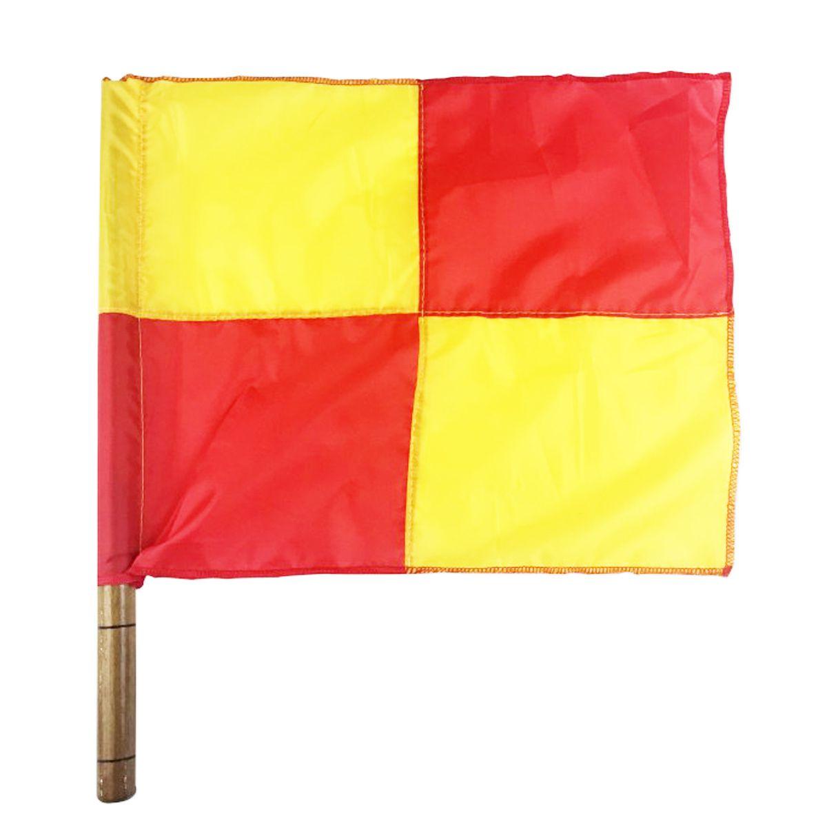 Bandeira para Árbitro Auxiliar Quadriculada - Par