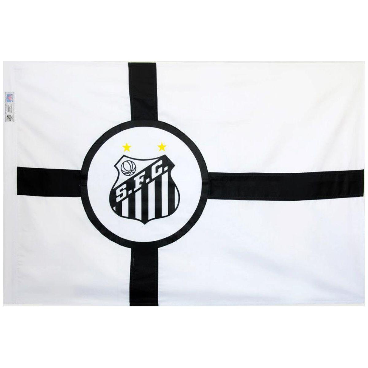 Bandeira Torcedor do Santos 128 x 90 cm  - 2 Panos