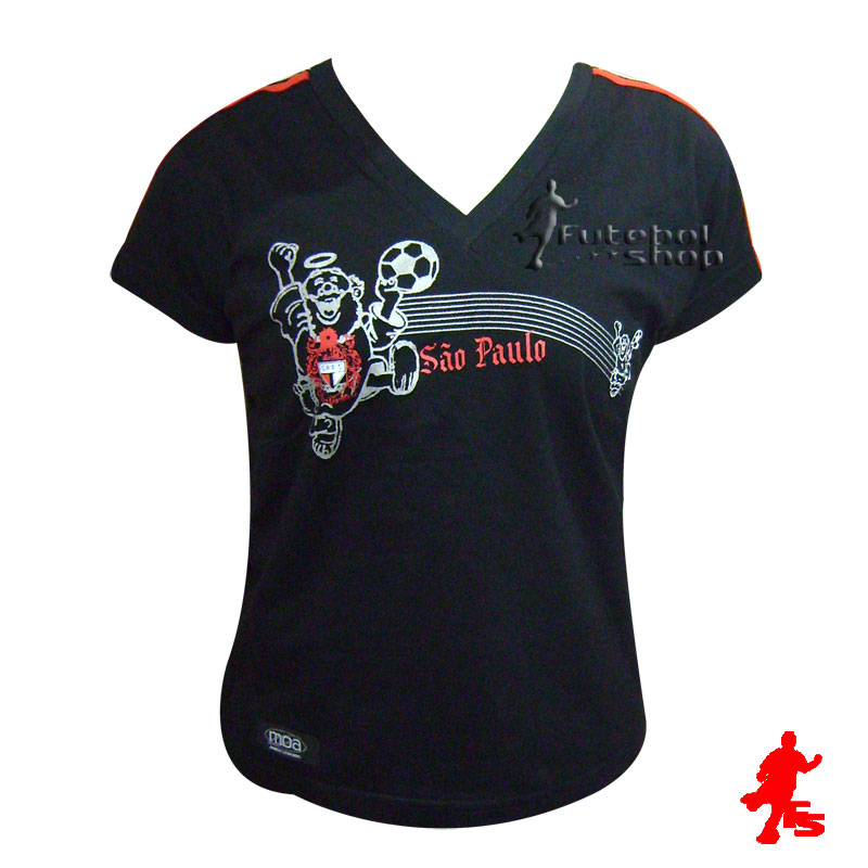Blusa Torcida Independente SPFC Feminina Infantil - 1012 - FUTEBOL SHOP d70165b4a9c33