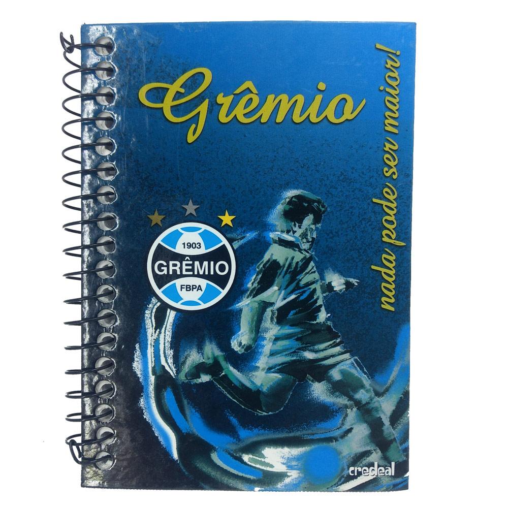 Caderno 1/8 Capa Dura Espiral Grêmio - Caderneta