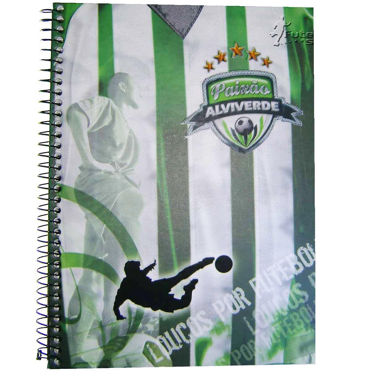 Caderno Universitário 10 Matérias Paixão Alviverde 200 folhas