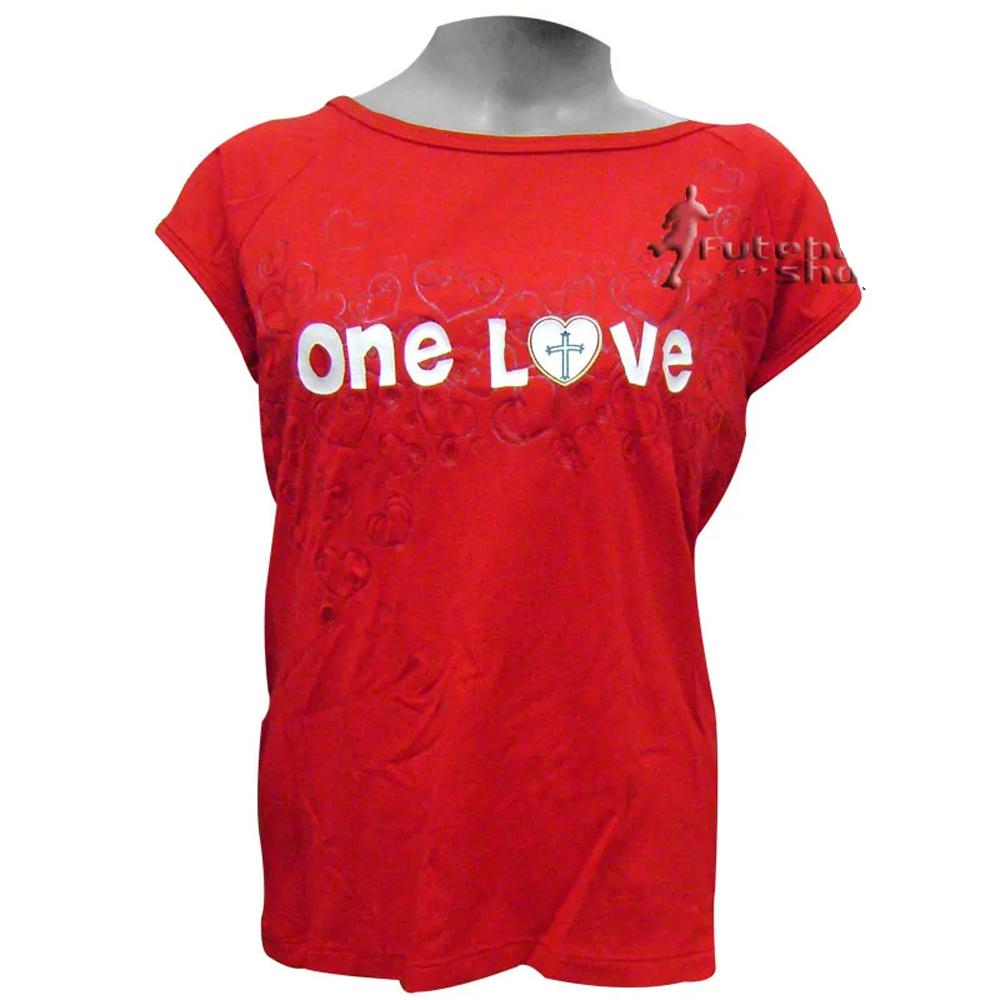 Camisa Feminina da Portuguesa - One Love
