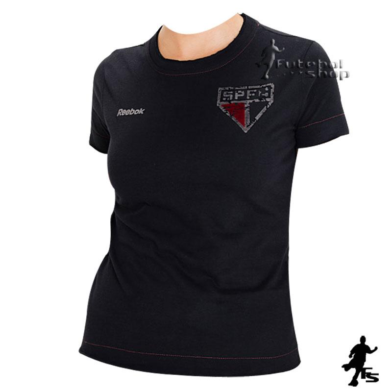 Camisa Feminina do SPFC Desgastada - SP96035V - FUTEBOL SHOP ... a6b0b7e3cb903