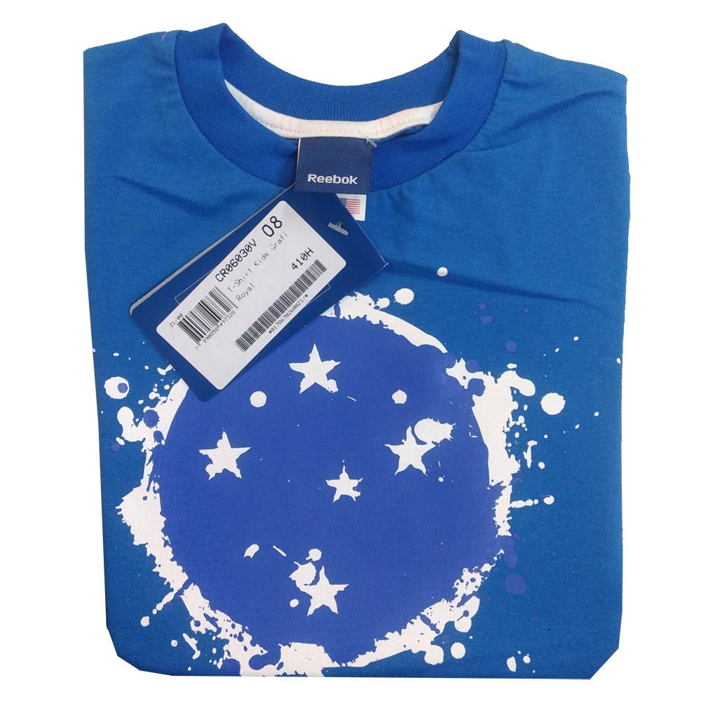 Camisa Infantil do Cruzeiro Reebok Grafiteiro - CR06030V