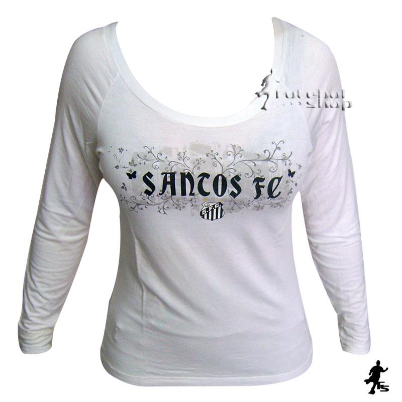 Camisa Manga Longa do Santos Feminina - Veet - FUTEBOL SHOP 53ffc1b72b17a