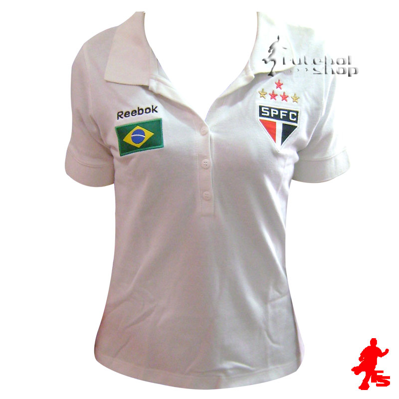 c42766fd54ae9 Camisa Polo Brasil São Paulo F.C - Feminina - SP09061V - FUTEBOL SHOP