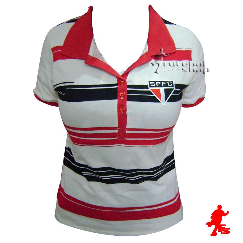 e9d8300474653 Camisa Polo do São Paulo F.C - Feminina - SP99005V - FUTEBOL SHOP