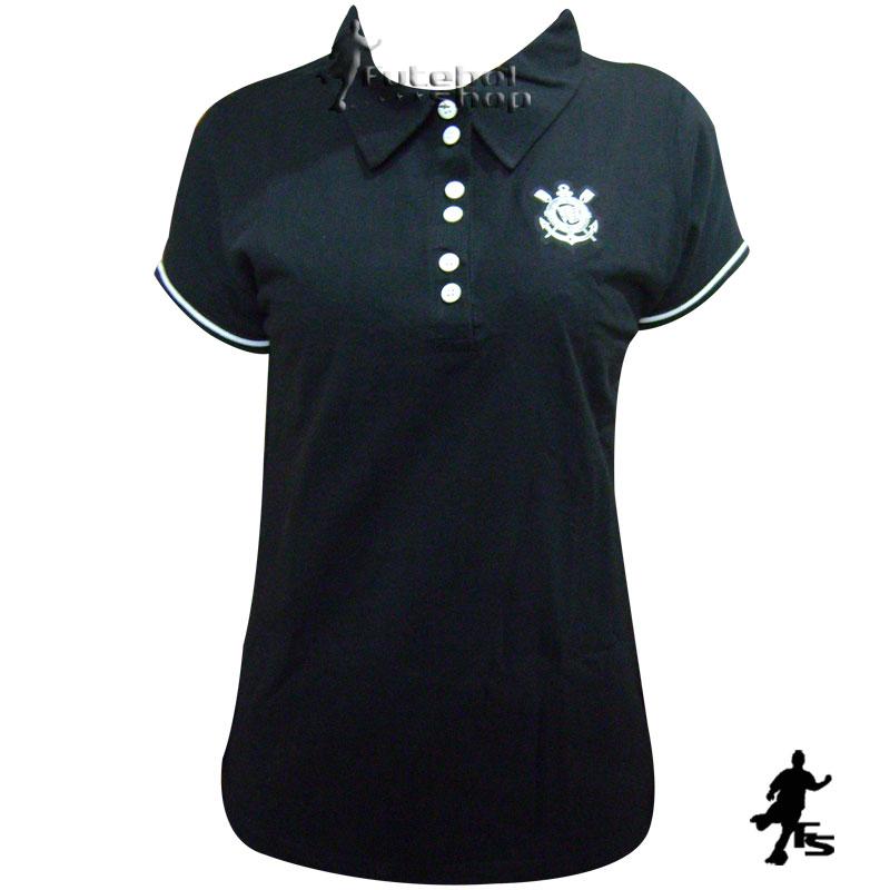 Camisa Polo Feminina do Corinthians - 173003