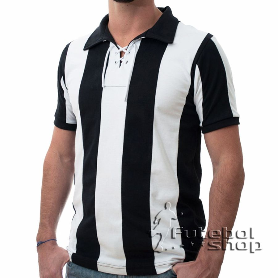 Camisa Retro do Botafogo Alvi Negro RJ Cordinha 1910 - RM07