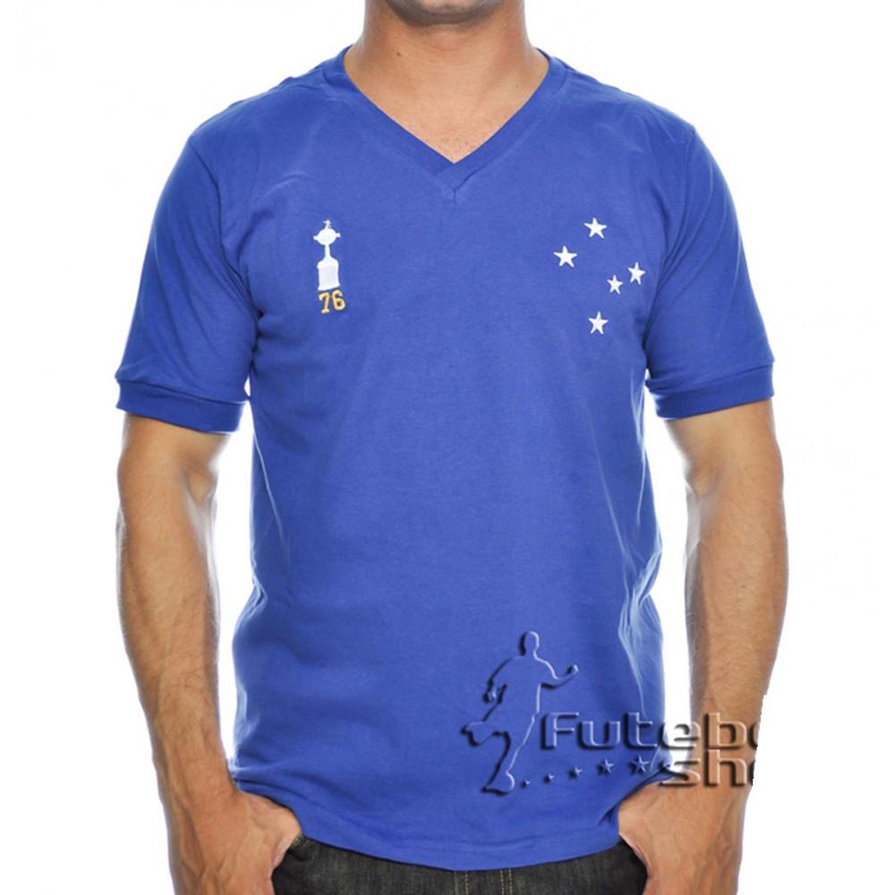 Camisa Retro do Cruzeiro Alviceleste 1976 - RM17