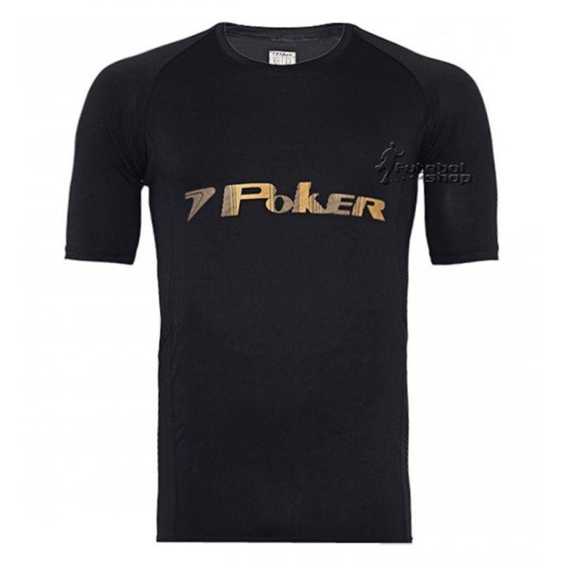 Camisa Térmica de Goleiro Poker Under Manga Curta - 04308 - Preta