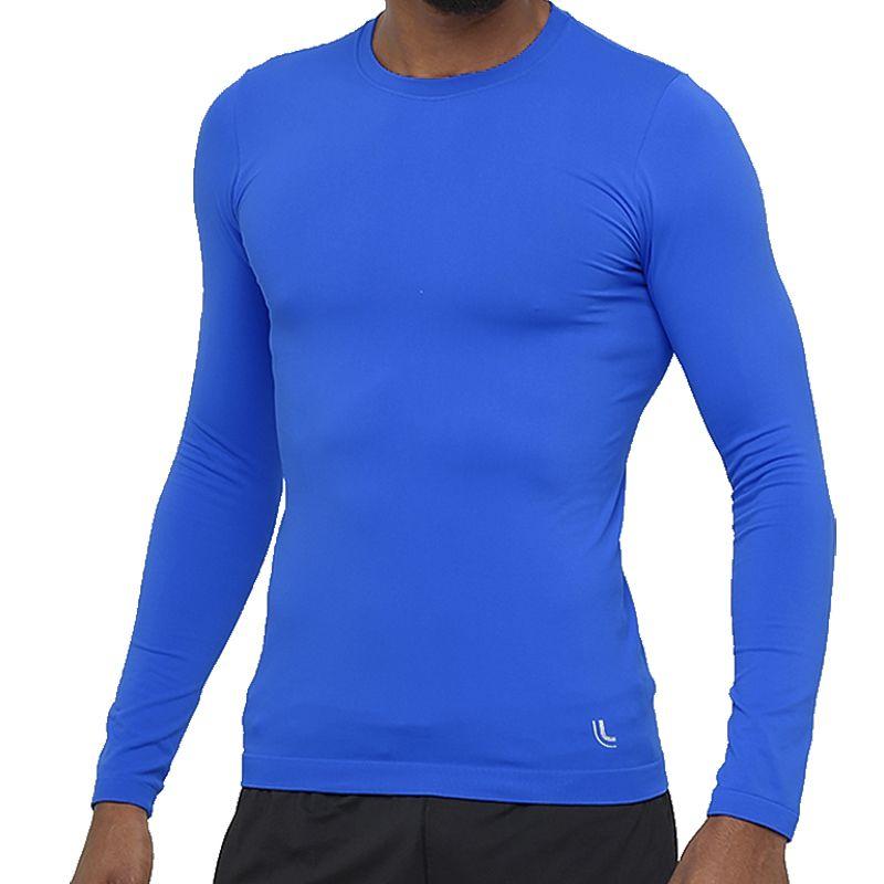 Camisa Térmica Manga Longa Lupo Run Azul Royal 70045-001