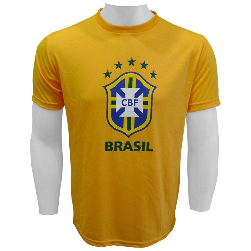 Camiseta do Brasil Logo Amarela - CB0210004