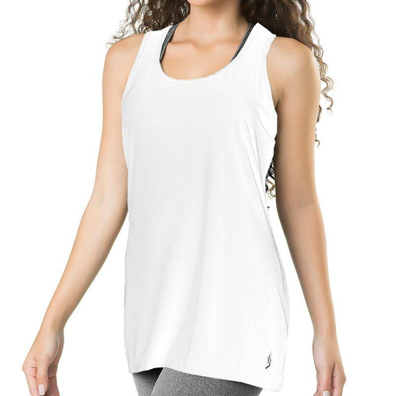 Camiseta Feminina Regata Fitness Branca Elite - 119602