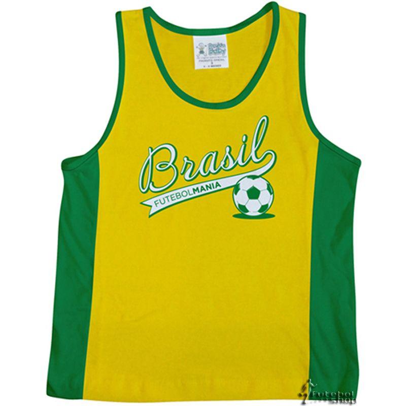 Camiseta Infantil do Brasil de Regata Malha Torcida Baby - 210